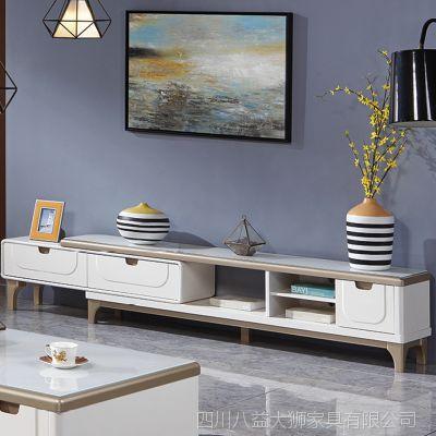 时尚客餐厅实木大理石伸缩现代简约电视柜北欧客厅小户型迷你卧室