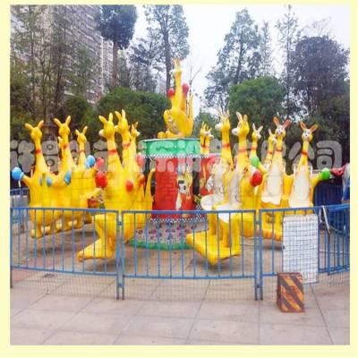 6臂袋鼠跳广场小型游乐设备小型刺激弹跳类游艺设施