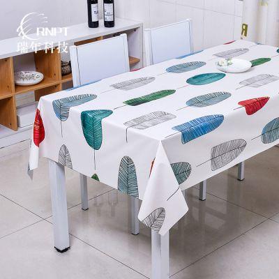 RNPT瑞年 工厂直销防水桌布pvc餐桌布家用长方形台布茶几布