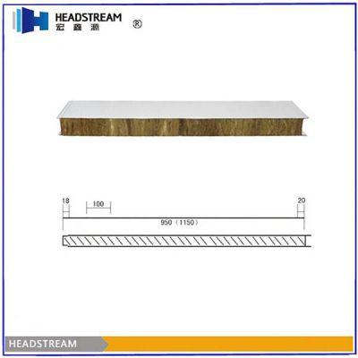 【彩钢岩棉夹芯板】50mm彩钢岩棉夹芯板多少钱一平方米