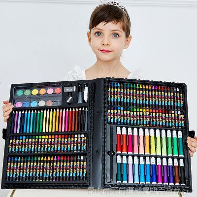 小学生画画工具组合学习文具礼盒美术用品画笔水彩笔儿童绘画套装