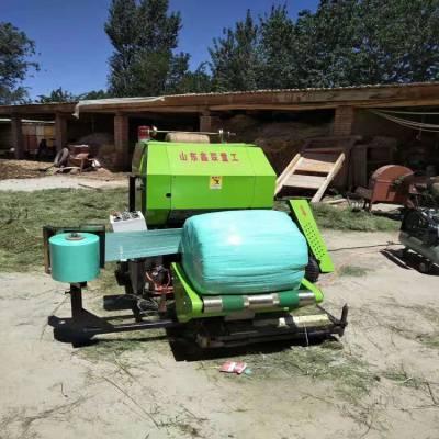 新疆地区牧草秸秆青贮打捆包膜机 全自动青饲料缠膜机厂家批发