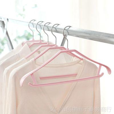 时尚无痕衣架成人防滑衣服架晾衣架塑料衣撑多功能防滑宽肩衣挂