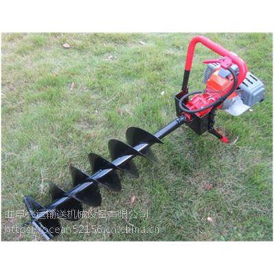 岳阳单人手提挖坑机 直销小型四冲程汽油挖坑机速度快