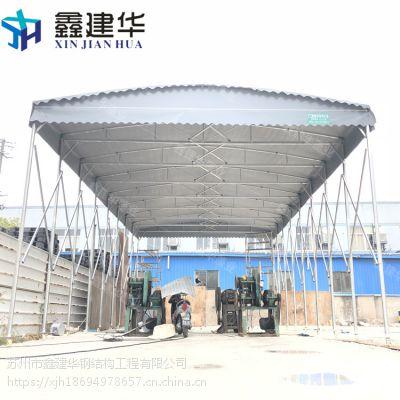 北京户外伸缩雨棚制作报价_布 带轮子推拉蓬使用方便