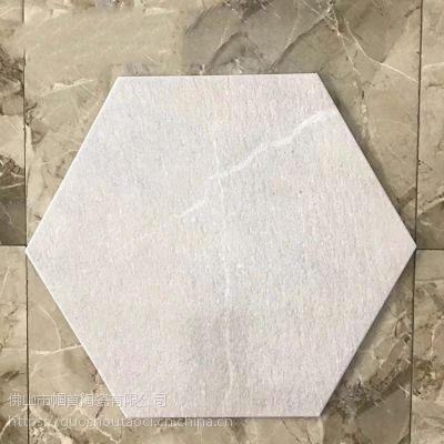 520*600mm水泥六角砖 商场店面防滑六边形瓷砖52*60cm