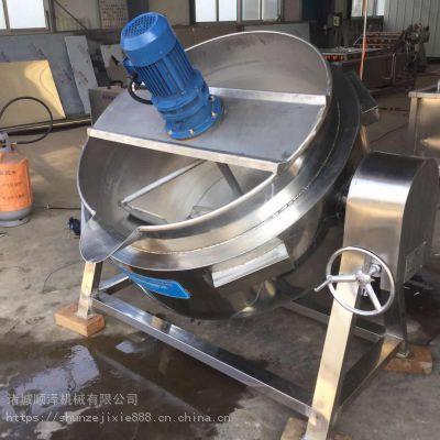 厂家热销可倾式牛板筋蒸煮锅 导热油夹层锅