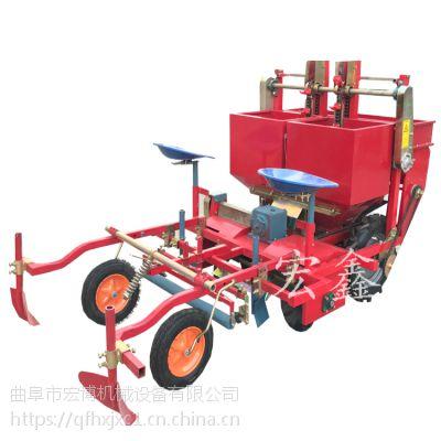 土豆播种覆膜机 多功能施肥覆膜机 单垄双行土豆播种机
