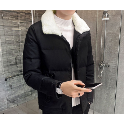 批发男装2018冬季新款男式棉服韩版修身加厚保暖棉袄青年羽绒棉衣