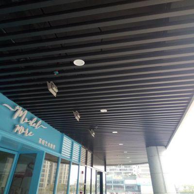 新疆铝方通吊顶 黑色铝方通 50*100铝格栅天花