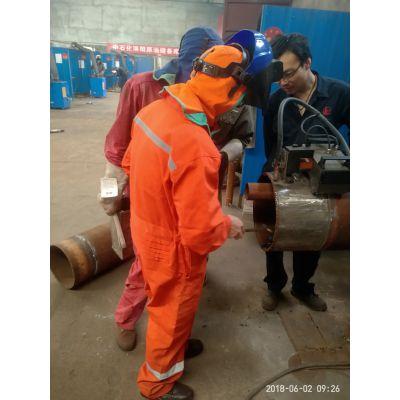 高压管道氩电联焊下向焊培训 焊工资格考试