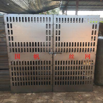 河北电梯防护门厂家生产 施工电梯安全门 工地人货电梯门 优质