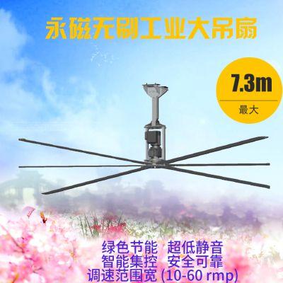 上海直销节能永磁工业直流风扇AE6100/6.1米工业大吊扇/低转速大风量/通风降温