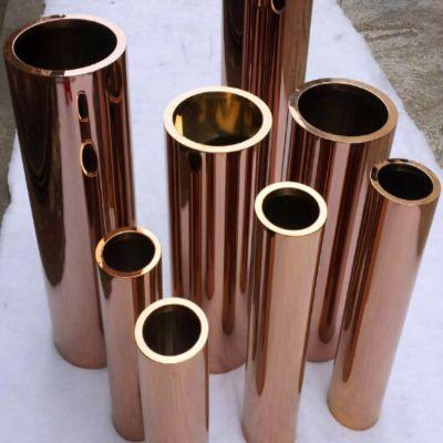 定制 不锈钢彩色圆管 方管 光面钛金 玫瑰金 黑钛金 高端装修 欢迎咨询