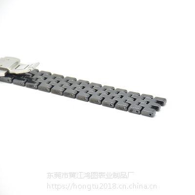 欢迎来样定制加工HT时尚光滑凹口陶瓷表带