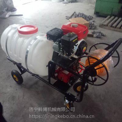 四轮汽油打药机科博 手推式高压远程喷药机 自走式高杆喷雾器