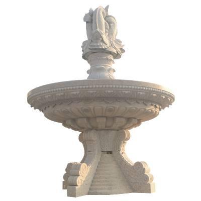 厂家供应流水石雕喷泉假山大理石喷泉石材水钵景观加工定制