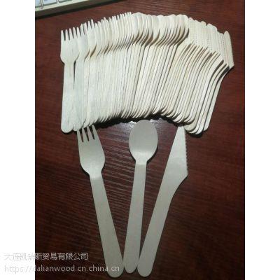 一次性木制刀叉勺 160mm刀叉勺 刀叉勺套装