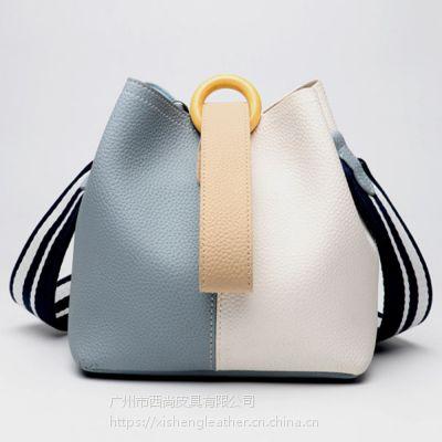 西尚 XS-WT8013 头层牛皮欧美时尚手提单肩水桶包
