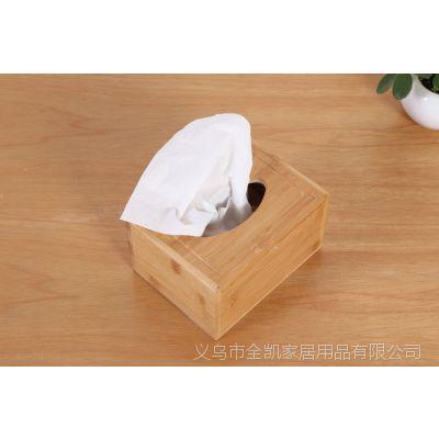 竹制餐厅饭店纸巾盒 竹制客厅抽纸盒抽纸筒 ZAKKA翻盖纸巾盒批发