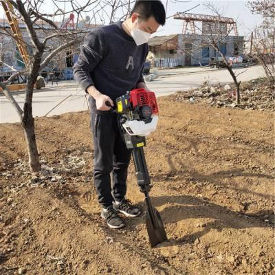 合金链条式挖树机 汽油起树断根机