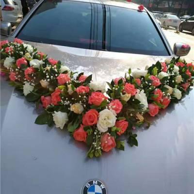 婚车装饰-武汉花卉林婚庆鲜花店-新娘婚车装饰