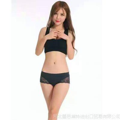 韩国let'sdiet女士内裤银离子面料奢华性感蕾丝大码中腰三角纯棉