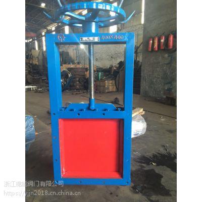 DLND铸钢手动方形插板阀生产厂家