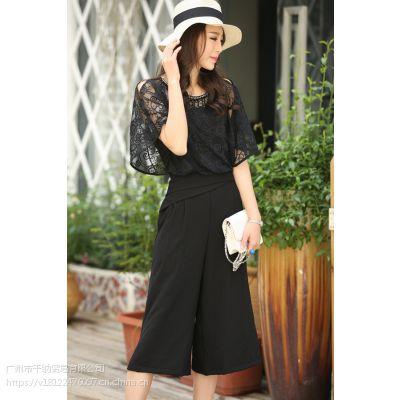 杭州一线品牌韩序19款新款时尚夏装,品牌女装折扣货源,库存尾货低价走份批发