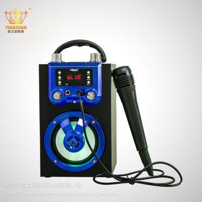 欧美热销 卡拉OK聚会家庭KTV音箱 插卡播放器 手提户外无线蓝牙音箱