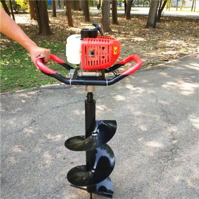 山东畅销汽油地钻挖坑效果好的打孔机 小型手提式挖坑机