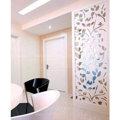 江苏波浪板厂家专业定制新型室内装饰雕花板镂空板玄关风水隔断板
