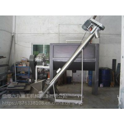 钢管螺旋提升机粉末颗粒物料提升机六九重工