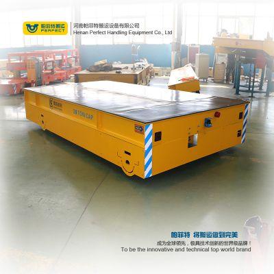 厂家帕菲特 30T蓄电池轨道电动平车 电动平板车 轨道