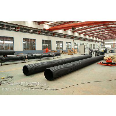 圣通圣大管业厂家批发供安徽芜湖市政管道PE钢带波纹管排水管道国标