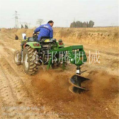 拖拉机植树挖坑机 冻土专用加厚螺旋挖坑机 邦腾车载式地钻打孔机