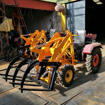 厂家供应抓草机 小型铲车抓木机 金林蔗木装载机