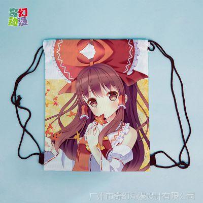 厂家直销 涤纶布束口背包袋拉绳收纳袋来图定制logo广告促销礼品