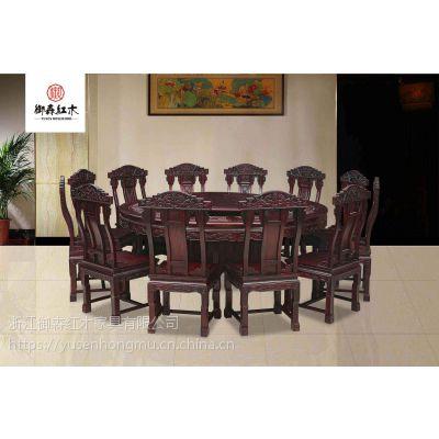红木沙发-黑酸枝逐鹿沙发7件套组合-实木古典客厅家具-东阳红木家具厂供应