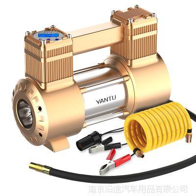 车载充气泵 双缸汽车数显充气泵 多功能12V便携式打气泵 跨境产品