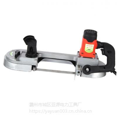 亚源手持式金属切割带锯机 移动式钢管切断机LP-150电缆带锯机