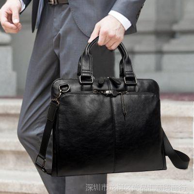 送手包韩版公文包商务手提包斜挎单肩包斜跨包男包包男士休闲包袋