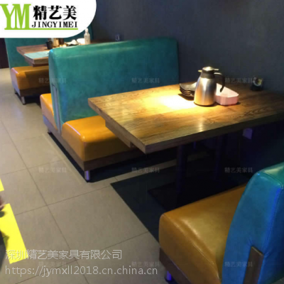 重庆味地道古典中式主题餐桌餐桌椅子定制工厂 实木桌子做旧款式 茶餐厅桌子座椅