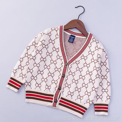 1299H 秋冬季新款男童宝宝纯棉针织毛线衣开衫 欧美风儿童毛衣