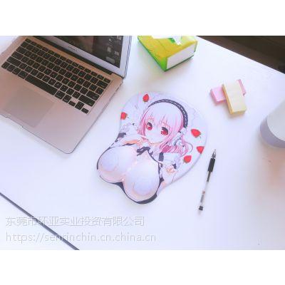 定制彩印硅胶动漫美女鼠标垫
