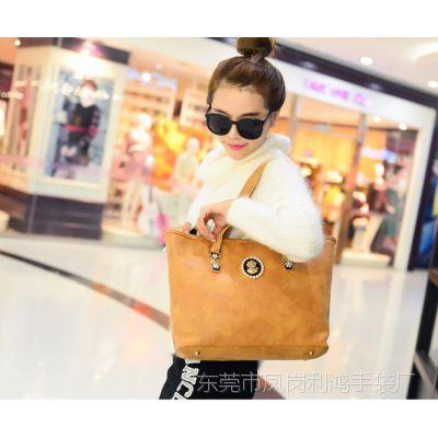 厂家定做秋冬季新款韩版简约大气单肩袋 手提带钻时尚女包