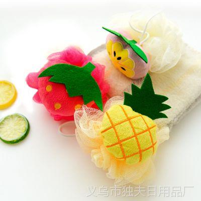 水果造型洗澡沐浴球浴花  沐浴柔软大号起泡球浴擦去角质搓澡