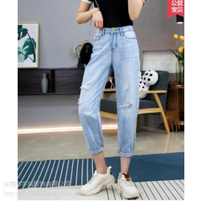 便宜女装裤子清货韩版时尚休闲裤九分裤清货5元以下女士牛仔裤清