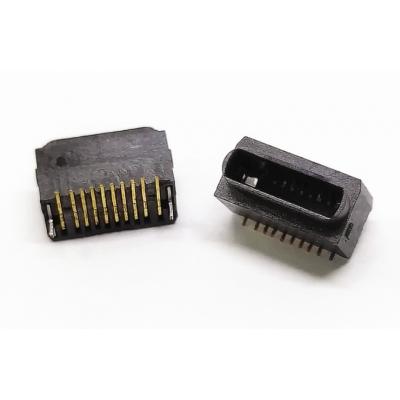 苹果立贴母座黑白全塑型SMT+IPHONE插座180度贴板