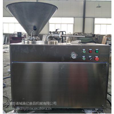 满亿机械不锈钢冻肉灌肠机 五香肉肠灌肠机厂家